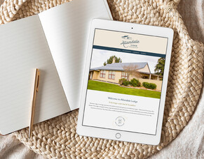 Designing a historical website with a modern twist for Allandale Lodge